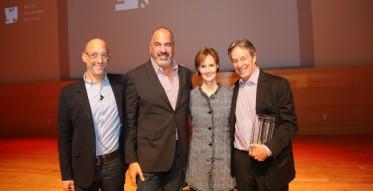 2014 Design Leadership Award Reception, Peter Sallick, John Edelman and Kate Kelly Smith, with award honoree, Marc Appleton