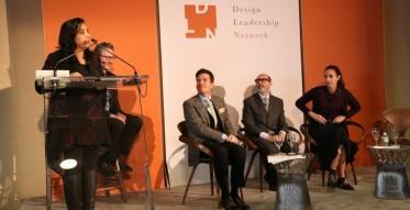 Conference Day One: Forum on International Design, at the United Nations, Panelists include Sonali Rastogi, Thomas Hamel, Isay Weinfeld, Dorothee Boissier w/Michael Boodro